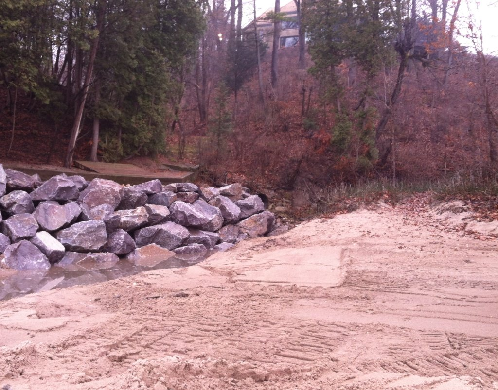 Bluff Erosion Stabilization Lake Michigan Gillen Marine