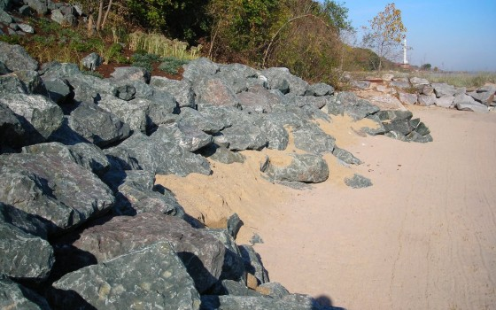 Pembine Stone Revetment To Protect Bluff Toe