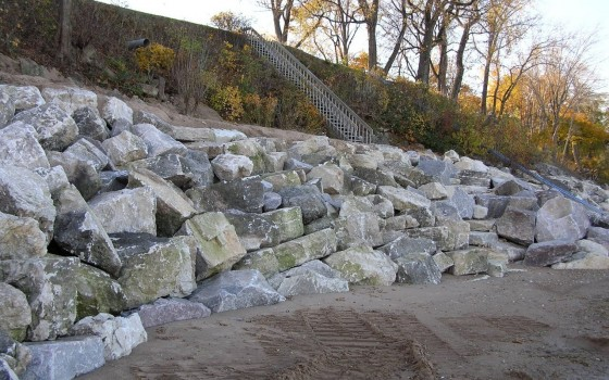 Stone Revetment To Protect Bluff Toe